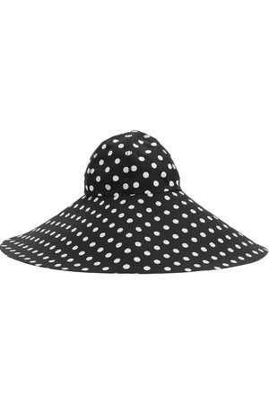 MARIANNA SENCHINA Wide Brim Printed Canvas Hat