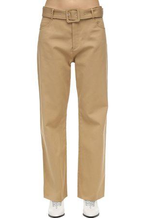 Courrèges Pantaloni In Twill Di Cotone Con Cintura
