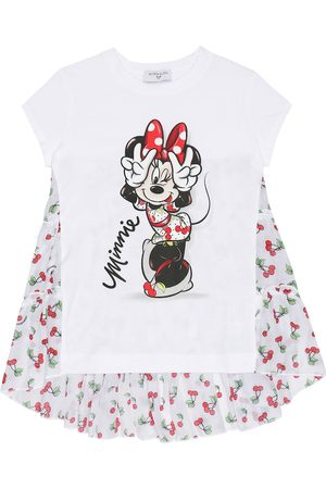 MONNALISA T-shirt in cotone stretch con stampa