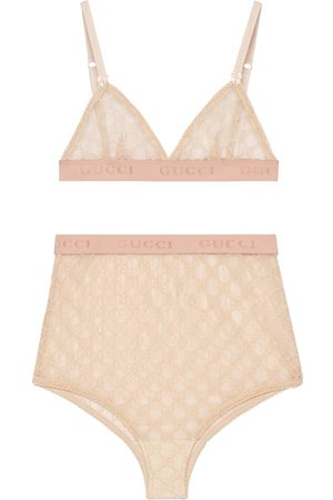 Gucci Set lingerie in tulle GG