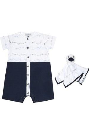 Emporio Armani Baby - Tutina e doudou in cotone