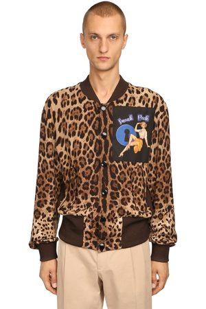 Dolce & Gabbana Uomo Giubbotti - Bomber Leopard Con Patch