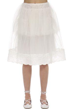 Simone Rocha Donna Gonne midi - Tulle & Lace Midi Skirt