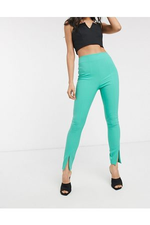 ASOS Pantaloni pop slim con spacco frontale