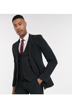 ASOS Tall - Giacca da abito super skinny nera in tessuto quadrielastico
