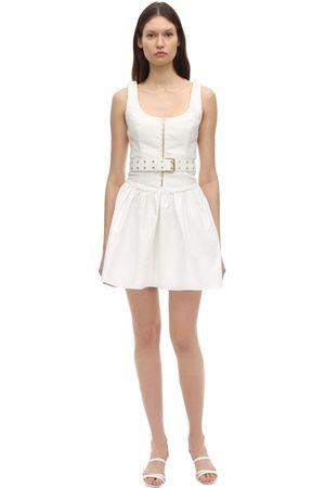 AYA MUSE Gaia Belted Poplin Dress