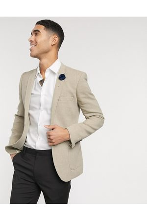 ASOS Wedding - Blazer super skinny in twill di misto lana