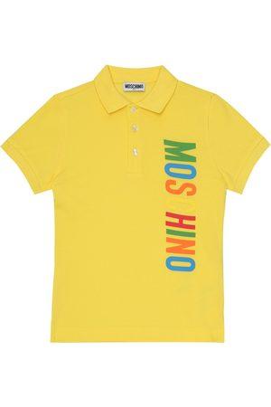 Moschino Polo in piqué di cotone con logo