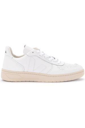 Veja Sneaker V-10 da donna in pelle bianca con logo