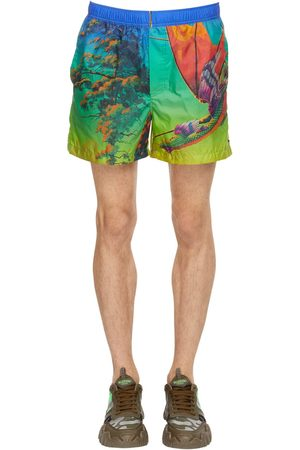 "VALENTINO Shorts Mare ""dragonat Dawn"" In Nylon"