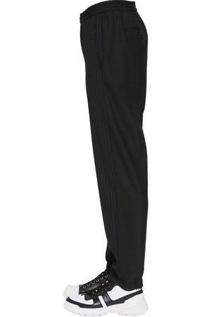 Neil Barrett Pantaloni Gessati In Cotone Stretch
