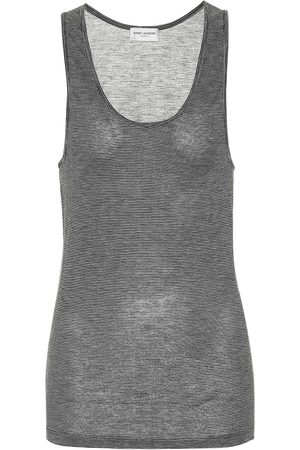 Saint Laurent Tank top a righe in jersey