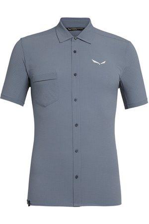 Salewa Uomo Maniche corte - Puez Minicheck2 Dry M S/S - camicia a maniche corte trekking - uomo