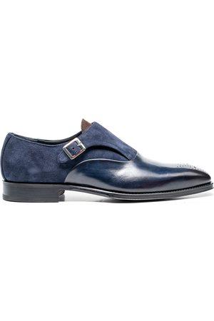 Design Italian Shoes Augusto - Mocassino con Fibbia Vitello Crust Kudu Blu