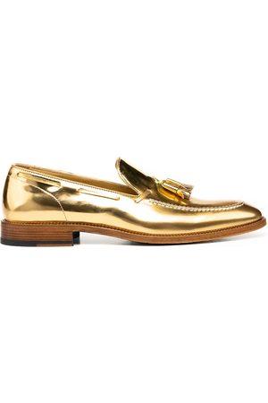 Design Italian Shoes Uomo Stringate e mocassini - Romeo - Mocassino Uomo Pelle Lucida Oro Nappina
