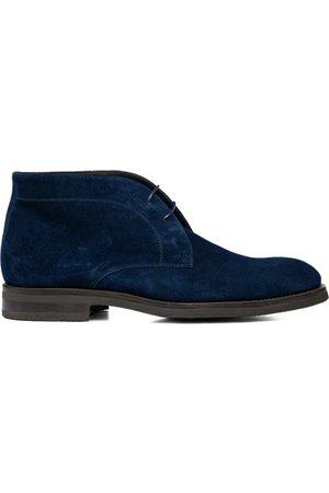 Design Italian Shoes Uomo Polo - Marco Polo - Polacchino uomo scamosciato blu