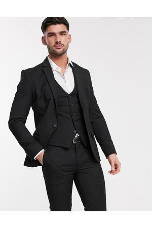 New Look Giacca da abito skinny nera