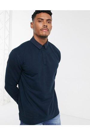 Topman Maglia stile rugby navy