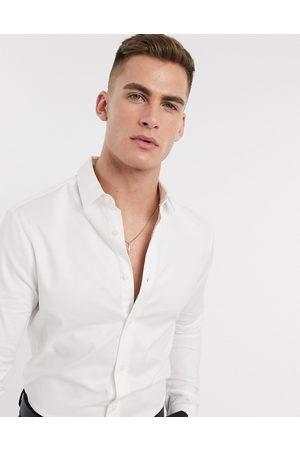 ASOS Camicia Oxford skinny elegante bianca