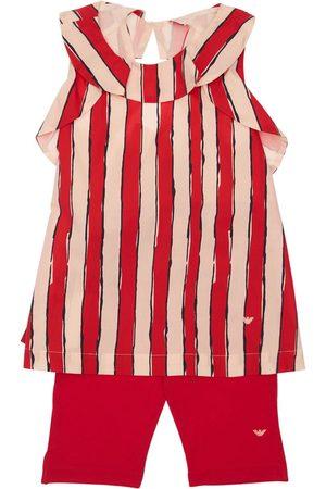 Emporio Armani T-shirt In Popeline Di Cotone E Leggings