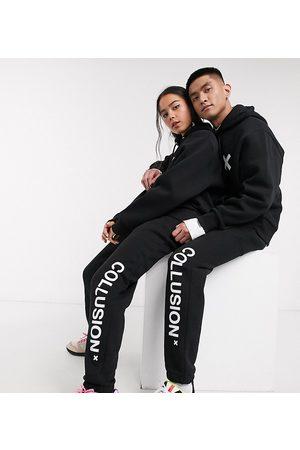 COLLUSION Joggers unisex con logo neri
