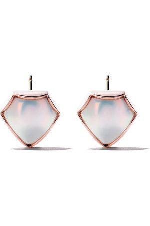 Tasaki Donna Orecchini - Orecchini a bottone in rosa 18kt e perla FACETED M/G