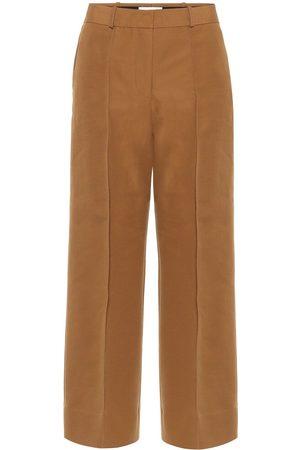 Victoria Victoria Beckham Pantaloni in twill di misto cotone