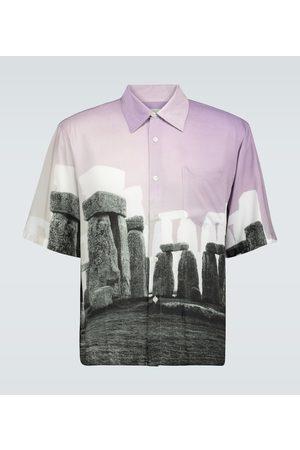 ARIES Camicia Stonehenge hawaiana