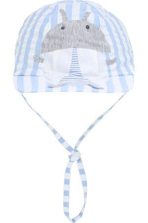 Il gufo Baby - Cappello a righe in cotone