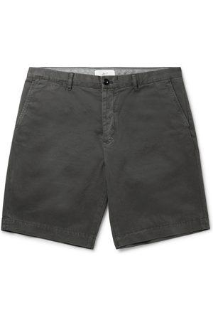 Mr P. Uomo Pantaloncini - Garment-Dyed Cotton-Twill Bermuda Shorts