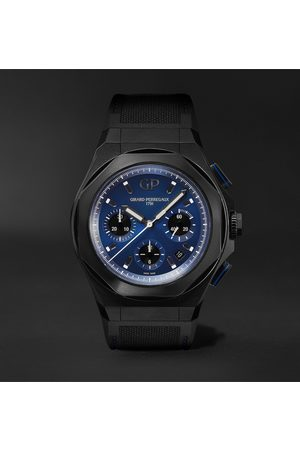Girard Perregaux Uomo Orologi - Laureato Absolute Automatic Chronograph 44mm Titanium and Rubber Watch, Ref. No. 81060-21-491-FH6A