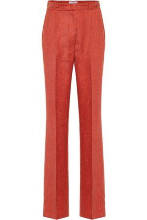 GABRIELA HEARST Pantaloni Vesta a vita alta in lana e seta