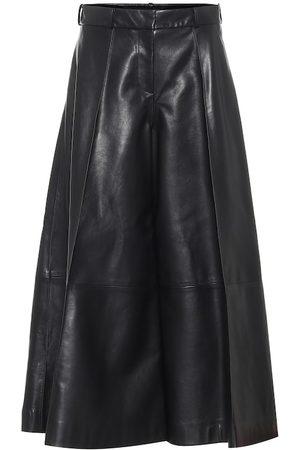 Khaite Pantaloni culottes Selma in pelle
