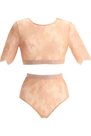 OFF-WHITE Donna Giacche - Completo Intimo In Pizzo