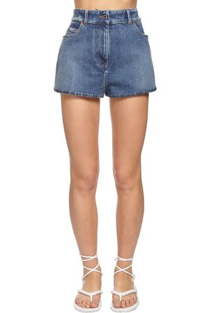 VALENTINO Shorts In Denim Con Logo