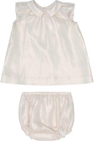 BONPOINT Baby - Abito Eoline con culottes in lino