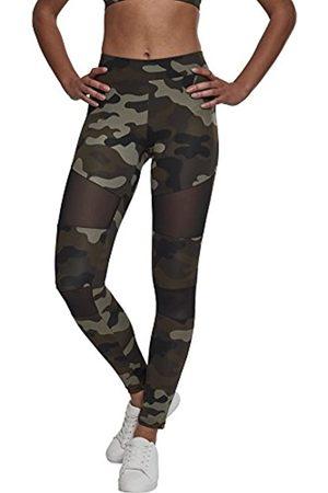 Urban classics Ladies Tech Mesh Leggings, Woodcamo/Blk, S Donna