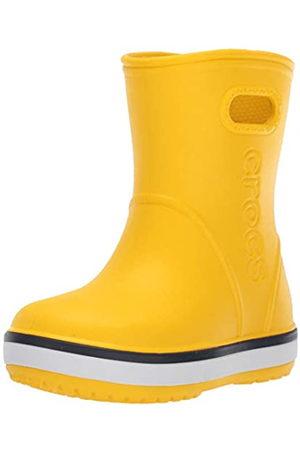 Crocs Crocband Rain Boot Kids', Stivali di Gomma Unisex-Bambini, Giallo , 29/30 EU