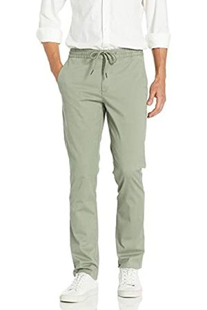 """Goodthreads Slim-Fit Washed Chino Drawstring Pant Casual-Pants, Fatigue, X-Small/28"""" Inseam"""