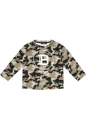 Balmain Felpa camouflage in cotone