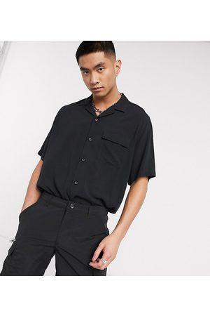 COLLUSION Camicia nera a maniche corte