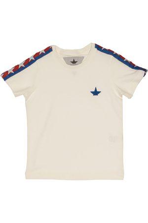 Macchia j Bambino T-shirt - T-shirt bianca con inserti