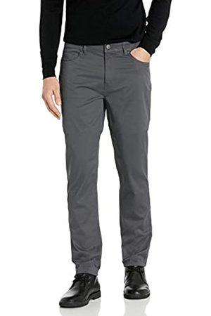 Buttoned Down Pantaloni Chino in Twill Elasticizzati a 5 Tasche, vestibilità Dritta, Facili da Pulire. Casual-Pants, Scuro, 29W x 30L