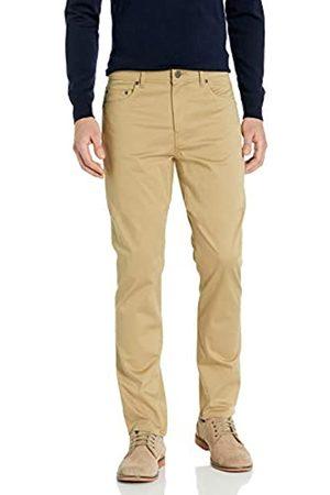 Buttoned Down Pantaloni Chino in Twill Elasticizzati a 5 Tasche, vestibilità Dritta, Facili da Pulire. Casual-Pants, Grano, 42W x 34L