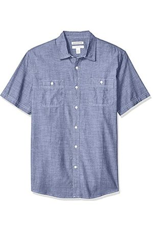 Amazon Camicia da uomo a maniche corte in chambray, regular fit, Rinsed, US XL