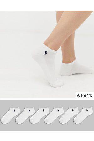 Polo Ralph Lauren Confezione da 6 calzini sportivi corti con suola imbottita bianchi