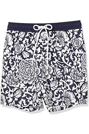 Amazon Costume da Bagno da 17,8 cm. Fashion-Swim-Trunks, Vintage Floreale, US S