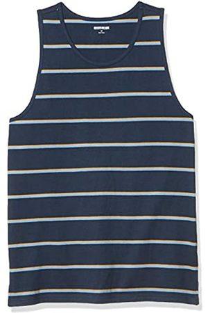 Goodthreads Uomo Polo - Canotta in Morbido Cotone Fashion-t-Shirts, A Righe Marino, US M