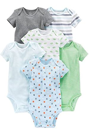 Simple Joys by Carter's Baby - Body a maniche corte, confezione da 6 ,Blue/Gray ,Preemie