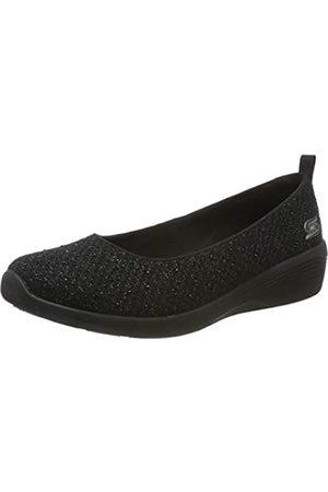 Skechers Arya Sweet Glitz, Slip-on Sneaker Donna, Nero , 35 EU